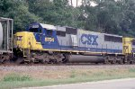 CSX 8704 with NB freight