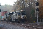 NS intermodal Coming on to the double track in Lyman sc