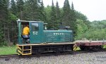 WWF 52 shunting a work extra in the Sheepscot yard complex