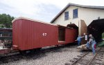 WWF 67 - newly-restored boxcar on the property