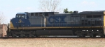 CSX 16 leads a train into Hamlet Yard
