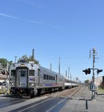 Westbound NJT Train # 4729 with Comet Set running 10-15 minutes late into Asbury Park Station