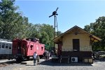 Restored CNJ Caboose at Allaire State Park on PCR