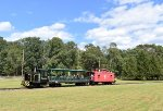 USAX Tonner # 7751 leading its train through the field of Allaire State Park.