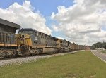 CSX 555 and 209 run second and third