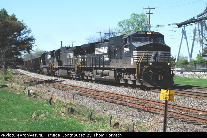 NS train symbol 862,unit coal train, heads east past Hershey park.