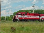 WSOR 2054 leads a 2-skunk, 5-car Thursday local on the Reedsburg Sub