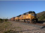UP 3821  30Oct2011  NB out of CENTEX with General Merchandise