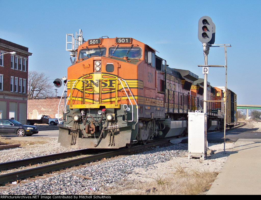 BNSF #501 And BNSF #509 Leading A Very Short Local