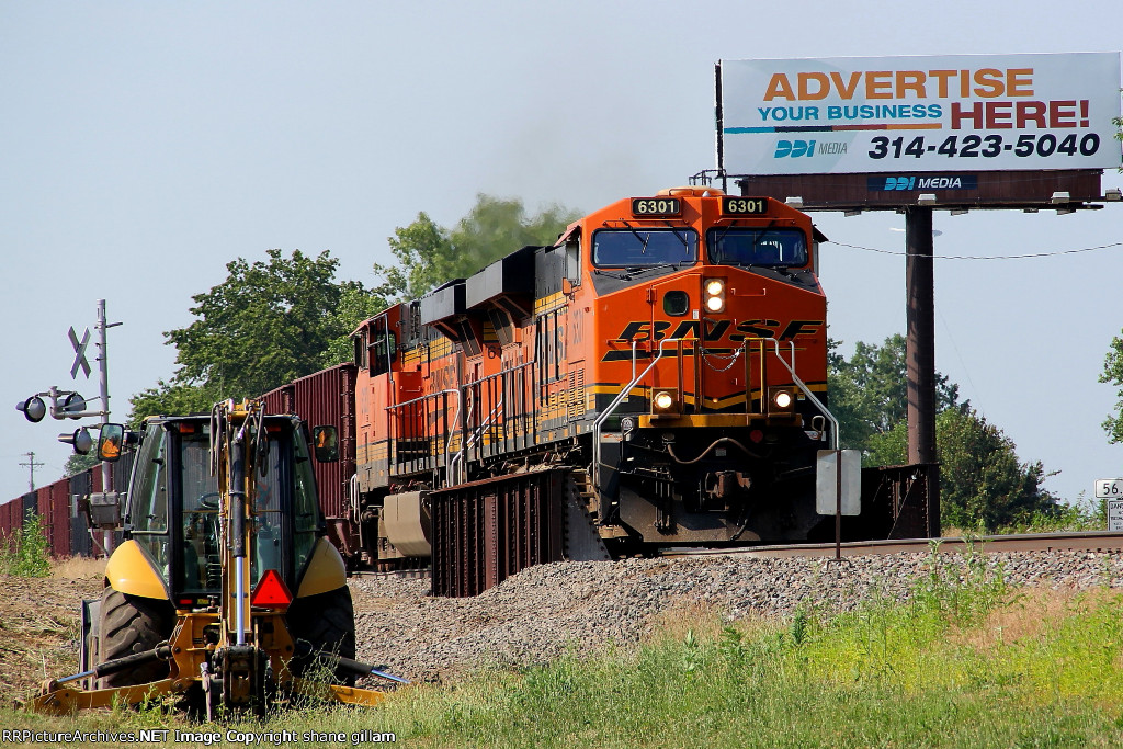 BNSF 6301 leads a ore train sb down the k line.