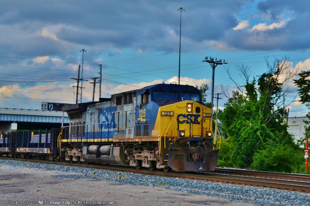 CSX 125 matches the sky a bit.