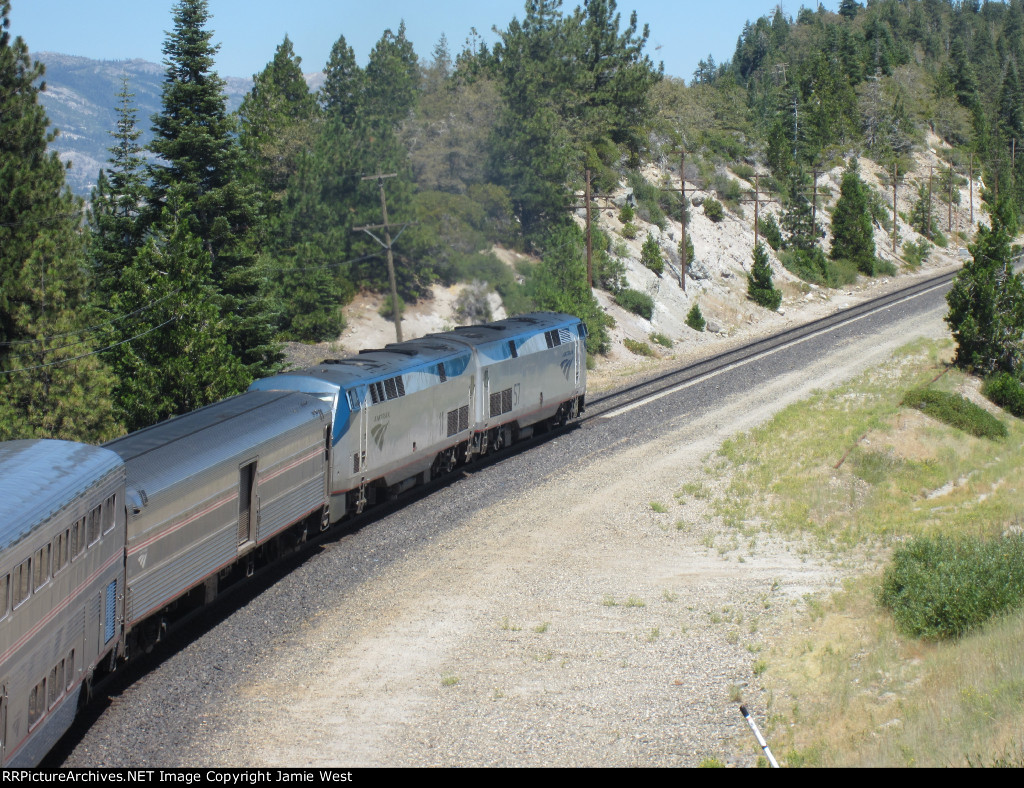 Amtrak 6 at Emigrant Gap