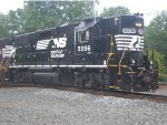 NS 5056 Unmanned Returning to Yard from Sandusky Docks with String of Empties