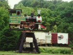Eureka Springs & North Arkansas Ry 0-4-0T on display