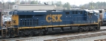 CSX 717 sits in Acca Yard